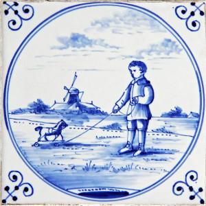delfs blauw renovatie restauratie jongetje makkum